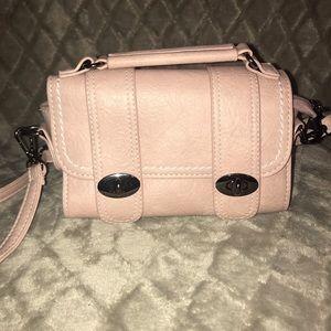 Small pink satchel purse